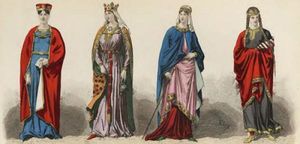 abbigliamento del periodo gotico
