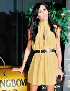 abito giallo ocra
