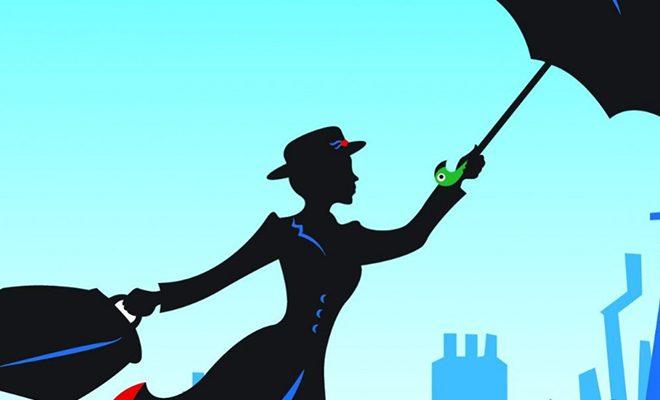 Mary Poppins: la borsa di una donna